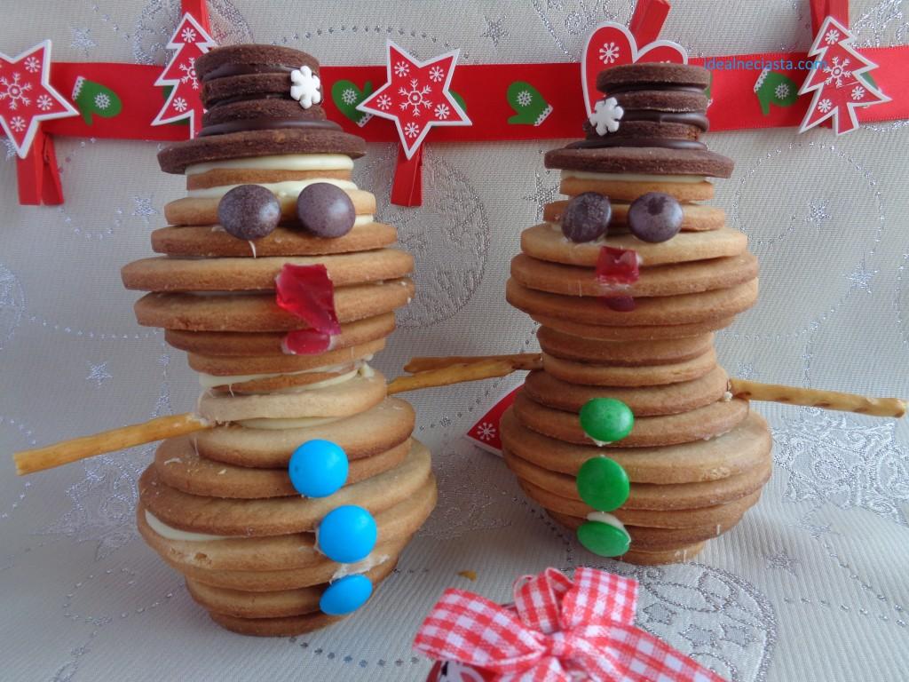 bałwanki z ciasteczek