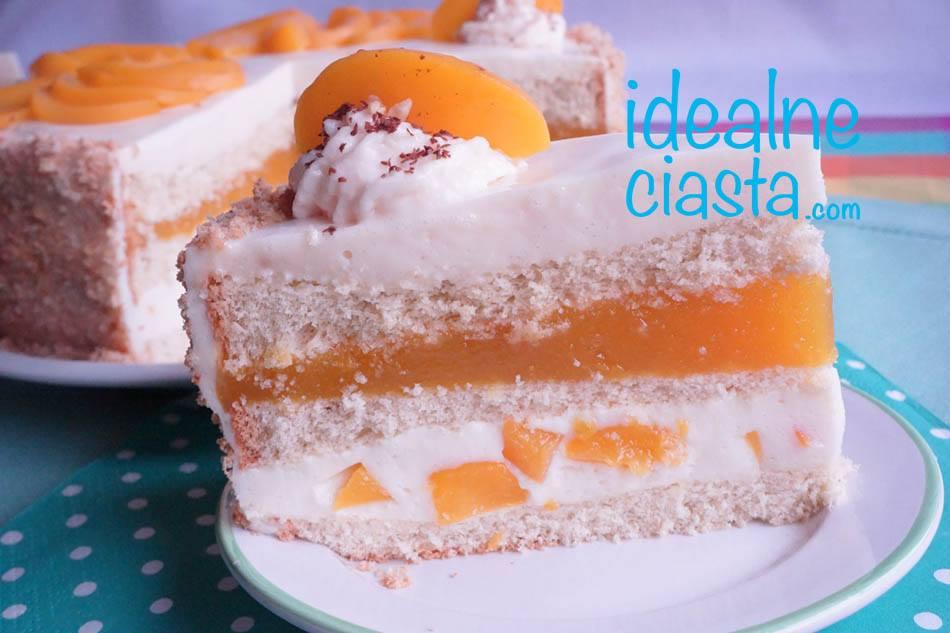 brzoskwiniowy tort jogurtowy