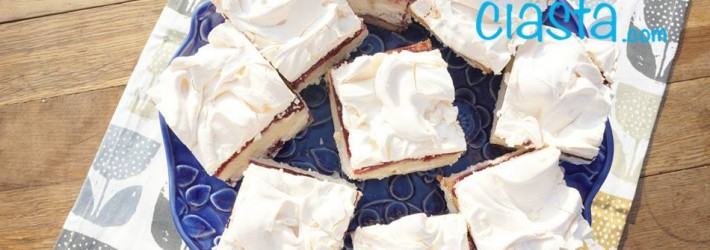ciasto z kremem i beza
