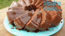 murzynek z dzemem i polewa czekoladowa