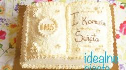 tort komunijny w ksztalcie ksiazki