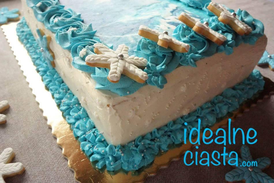 tort z oplatkiem tyl