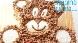 tort dla dzieci w ksztalcie misia