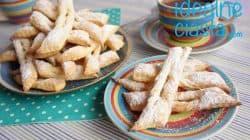 faworki z ciasta francuskiego (pieczone)