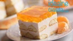 pianka sernikowa z mandarynkami bez pieczenia