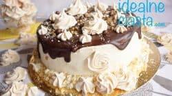 tort czekoladowo-smietankowy z beza orzechowa