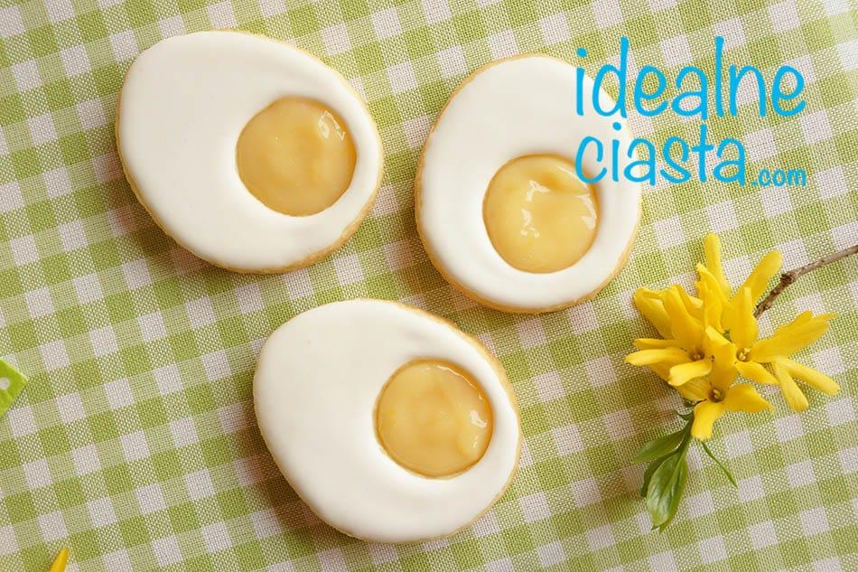 ciasteczka jajeczka na wielkanoc