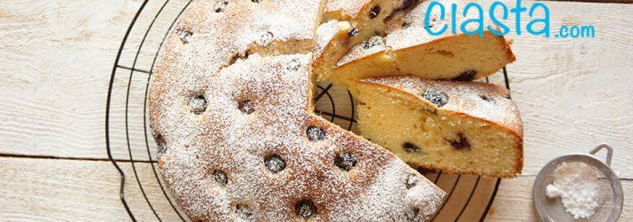 szybkie ciasto z borowkami