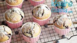 szybkie muffinki z borowkami
