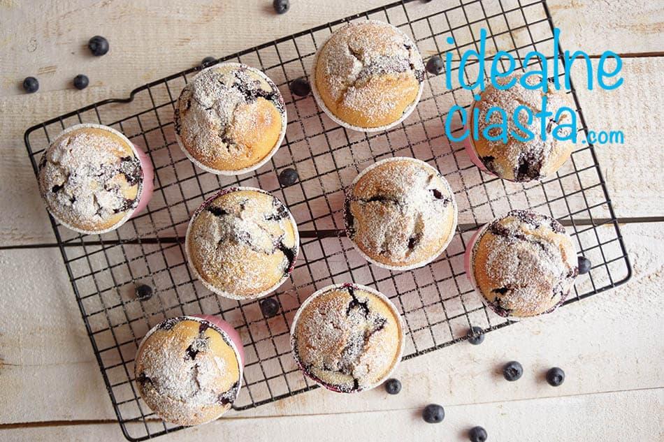 muffinki z borowkami