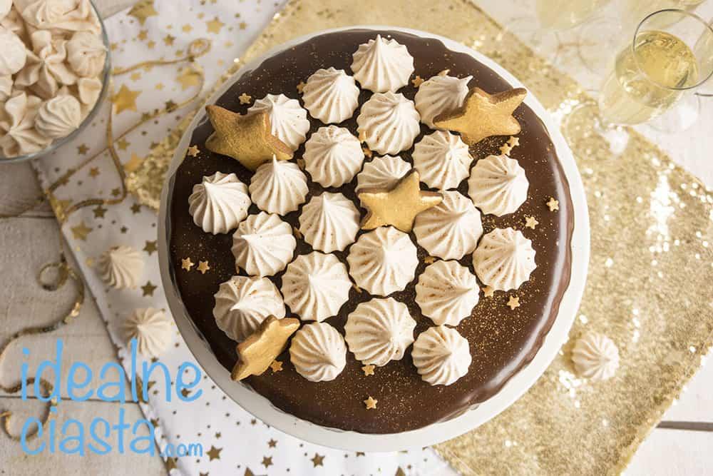 sernik wiedenski z polewa czekoladowa