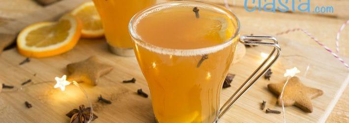 herbata z pomarancza i imbirem