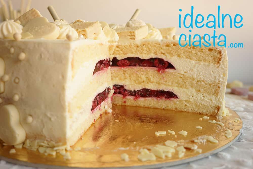tort z biala czekolada