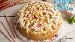 proste ciasto z rabarbarem