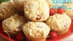 muffinki z czeresniami i kruszonka