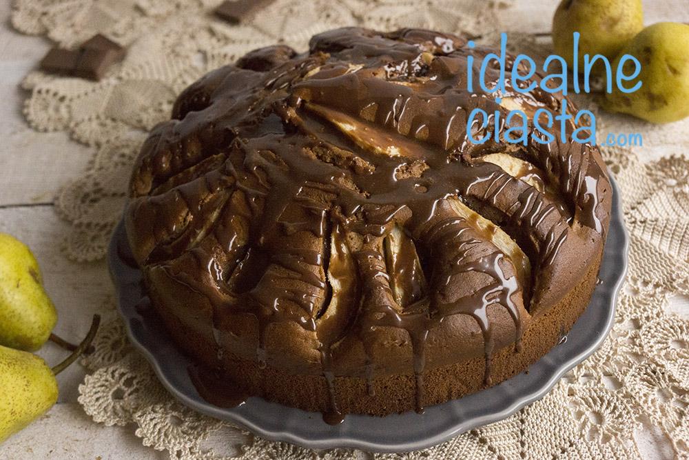 ciasto czekoladowe z gruszkami przepis