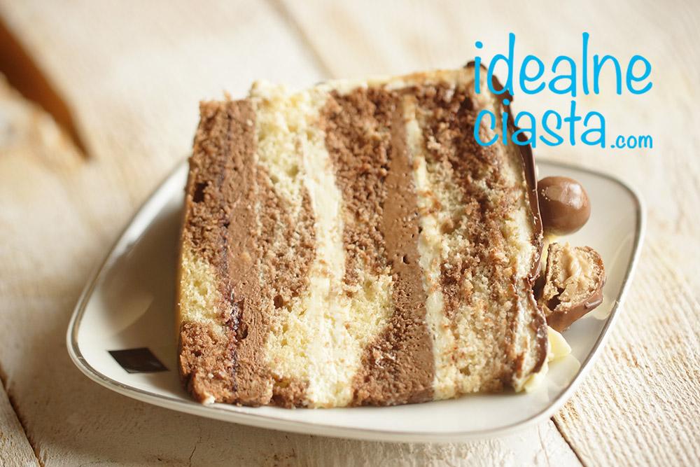 krem z gorzkiej czekolady do tortu