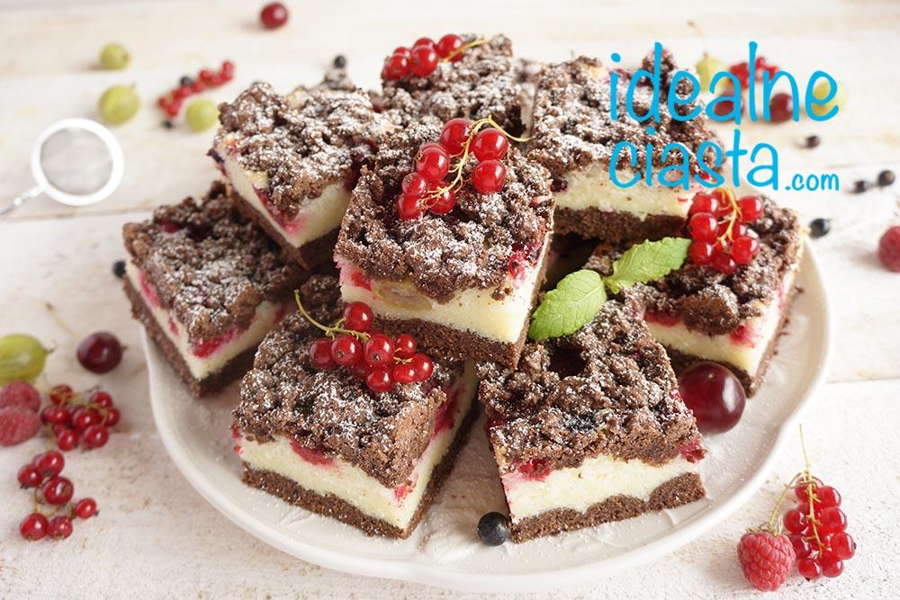 ciasto grysikowe z owocami przepis