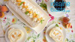 rolada z kremem i brzoskwiniami