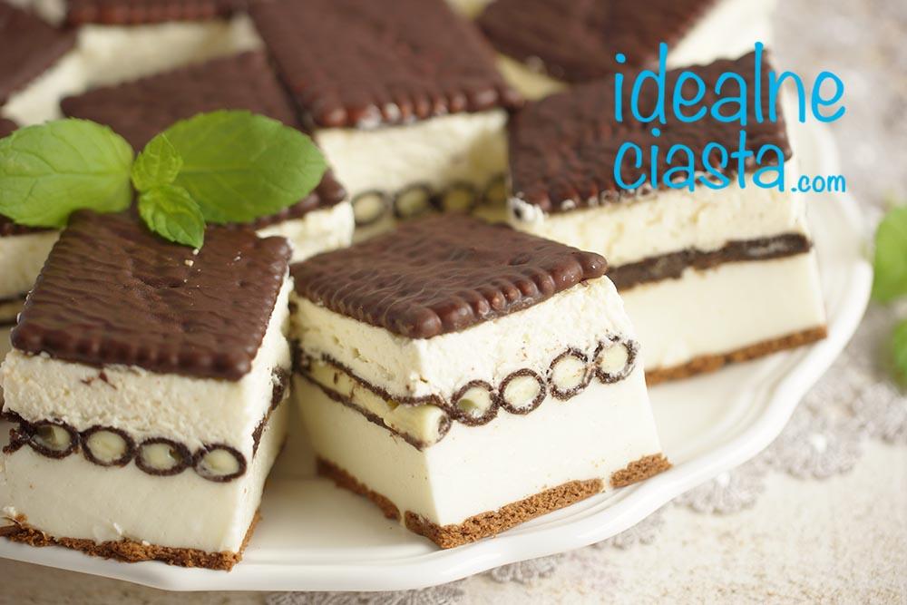 przepis na ciasto bez pieczenia z rurkami