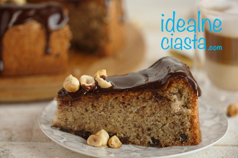 orzechowo czekoladowe ciasto