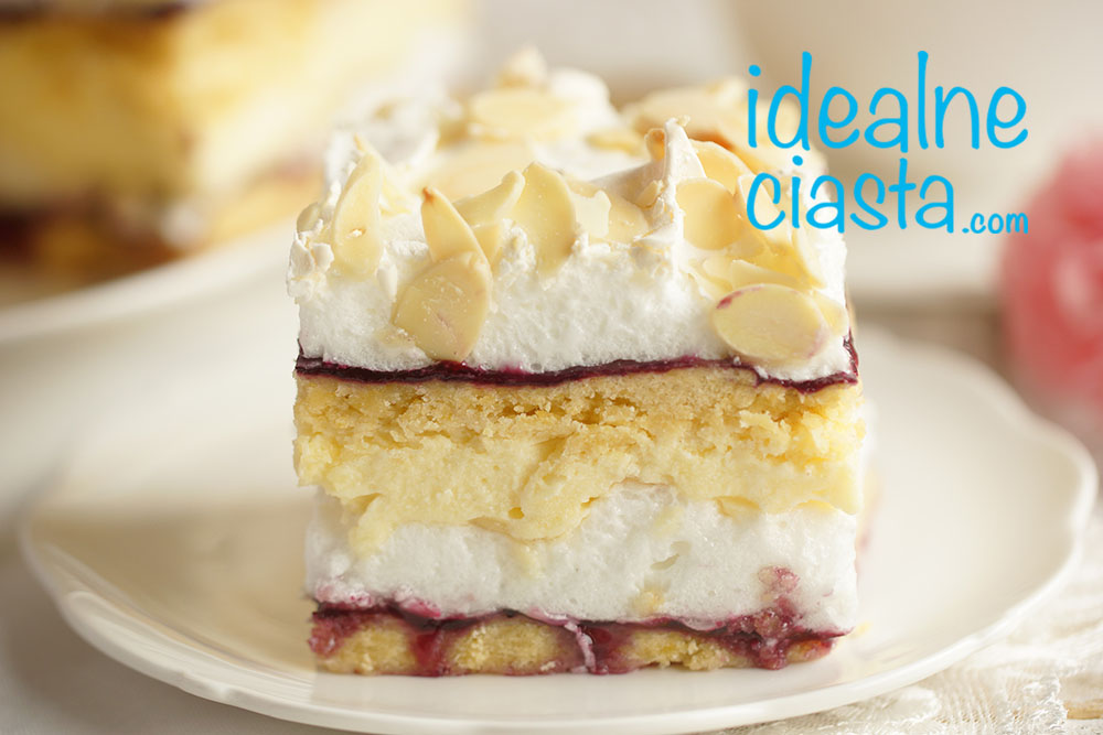 ciasto przekladane z beza