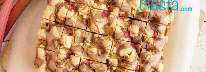 ciasto łaciate z rabarbarem najprostsze