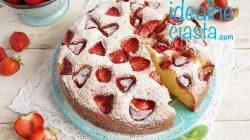 ciasto kubeczkowe z truskawkami