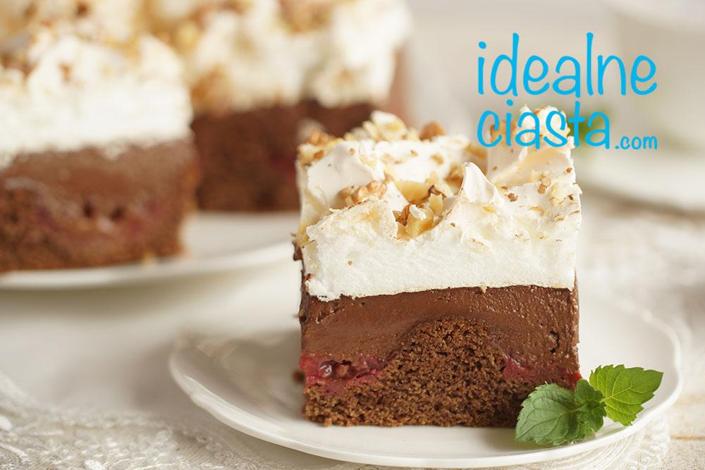 ciasto czekoladowe z beza