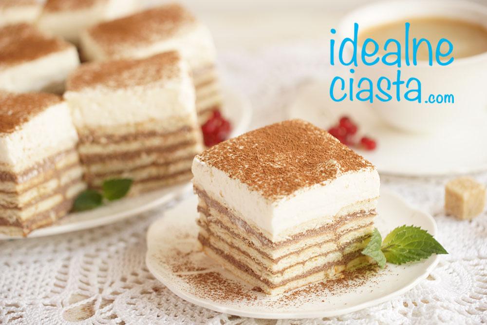 warstwowe ciasto bez pieczenia
