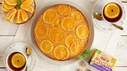 odwrócone ciasto pomarańczowe