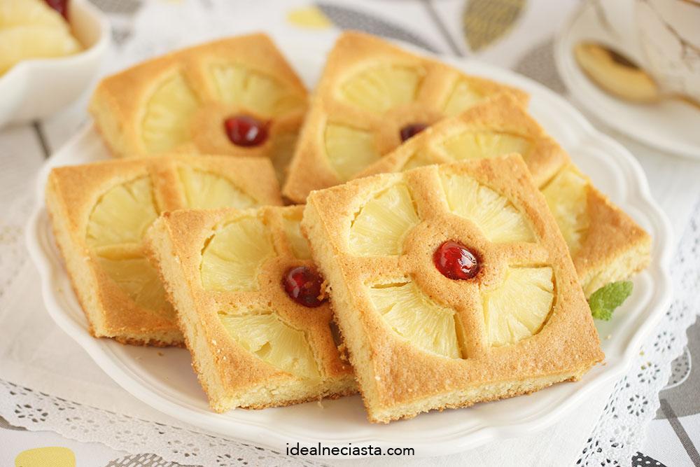 ciasto ucierane z ananasem