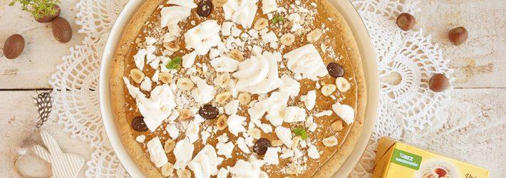 mazurek orzechowo-kawowy z bezami