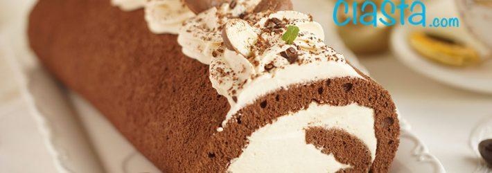 rolada czekoladowa z kremem kajmakowym