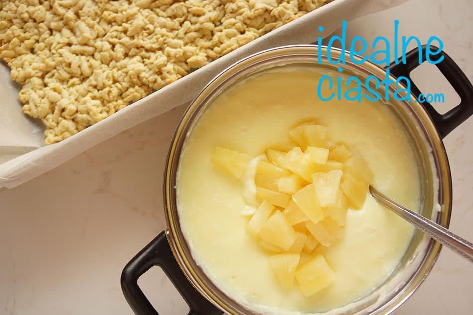 jak zrobic ciasto kokosowo-ananasowe