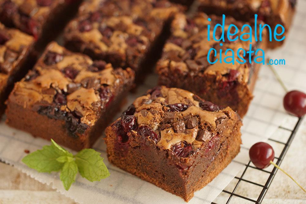brownie z wiÅ›niami