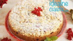 ciasto ucierane z porzeczkami i kruszonka