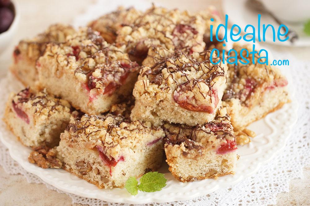 ciasto babie lato ze śliwkami i jabłkami