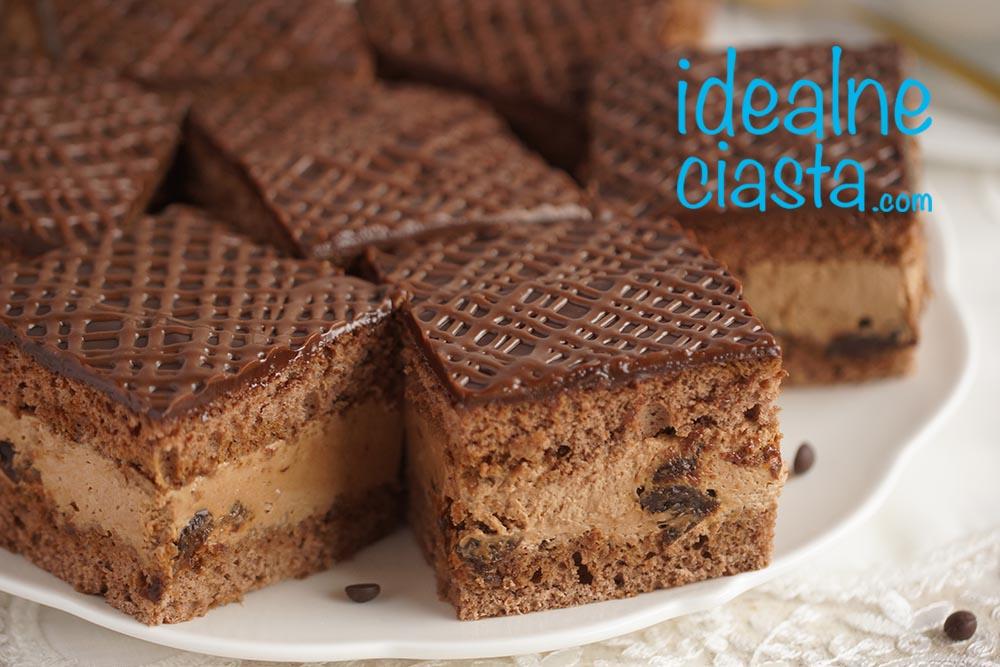 ciasto z kremem czekoladowym